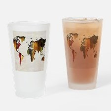 World Map Art Drinking Glass