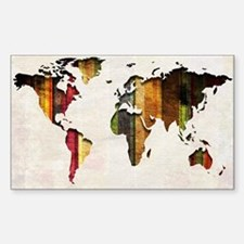 World Map Art Decal