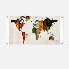 World Map Art Banner