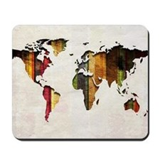 World Map Art Mousepad