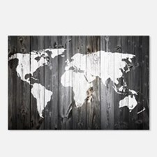 World Map Art Postcards (Package of 8)