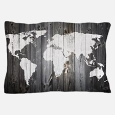 World Map Art Pillow Case