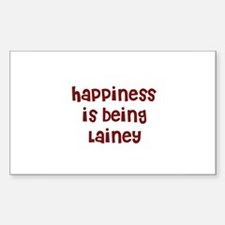 happiness is being Lainey Rectangle Decal