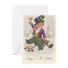 Vintage Happy St Patty Day Greeting Cards