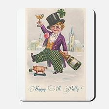 Vintage Happy St Patty Day Mousepad