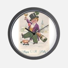 Vintage Happy St Patty Day Wall Clock