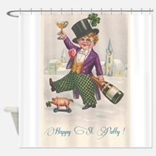 Vintage Happy St Patty Day Shower Curtain