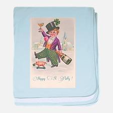 Vintage Happy St Patty Day baby blanket