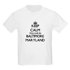 Keep calm you live in Baltimore Maryland T-Shirt