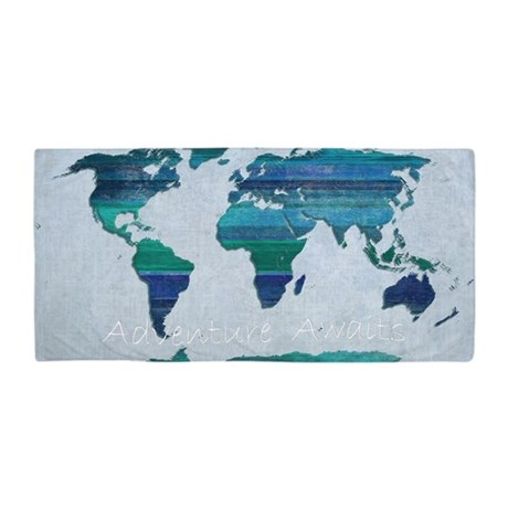 Perfect World Map Beach Towel