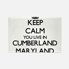 Keep calm you live in Cumberland Maryland Magnets