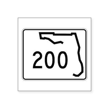 Route 200, Florida Square Sticker 3