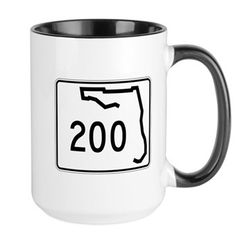 Route 200, Florida Large Mug