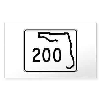 Route 200, Florida Sticker (Rectangle)