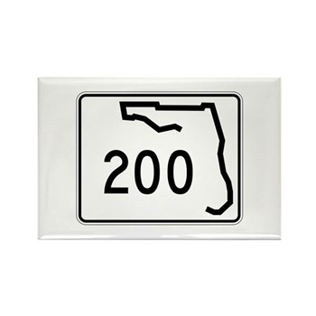Route 200, Florida Rectangle Magnet (10 pack)