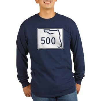 Route 500, Florida Long Sleeve Dark T-Shirt