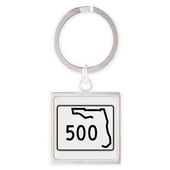 Route 500, Florida Square Keychain