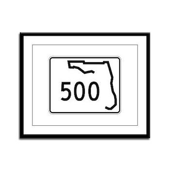 Route 500, Florida Framed Panel Print
