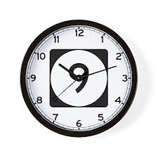 Route 9, Iowa Wall Clock