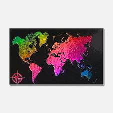 World Map Design Car Magnet 20 x 12