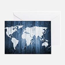 World Map Design Greeting Card