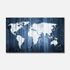 World Map Design Car Magnet 20 x 12