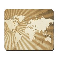 World Map Design Mousepad
