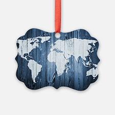 World Map Design Ornament