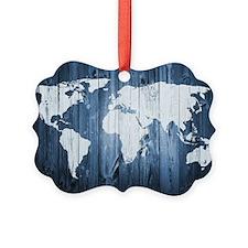 World Map Design Picture Ornament