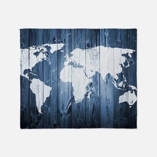 World Map Design Throw Blanket