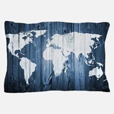 World Map Design Pillow Case