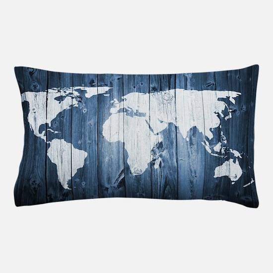 World Map Design Pillow Case