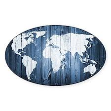 World Map Design Bumper Stickers