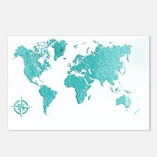 World Map Design Postcards (Package of 8)