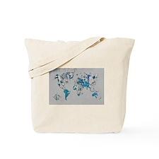 World Map Design Tote Bag