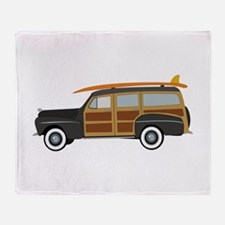 Surfer Car Throw Blanket
