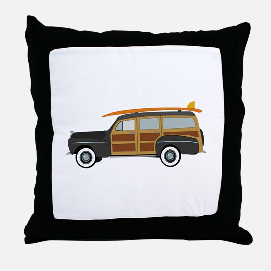 Surfer Car Throw Pillow