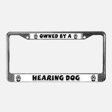 Hearing Dog License Plate Frame