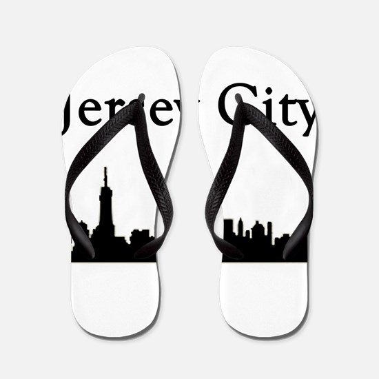 Jersey City Skyline Flip Flops