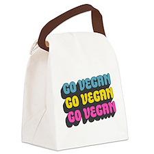 CMYK Go Vegan Canvas Lunch Bag
