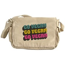CMYK Go Vegan Messenger Bag