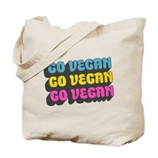 CMYK Go Vegan Tote Bag