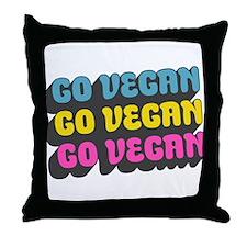 CMYK Go Vegan Throw Pillow