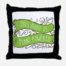 Plant Powered Body Throw Pillow
