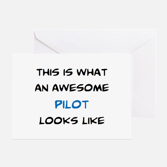awesome pilot Greeting Card