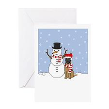 Malinois Howling Holiday Greeting Card