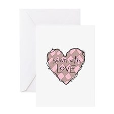 SEWN WITH LOVE Greeting Cards