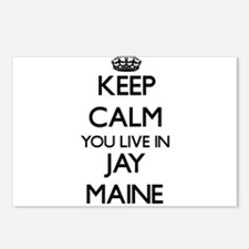 Keep calm you live in Jay Postcards (Package of 8)