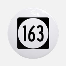 Route 163, Iowa Ornament (Round)