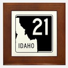 Route 21, Idaho Framed Tile